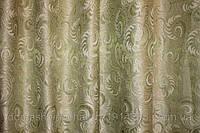 Шторная ткань Завиток 2,80м салатовая