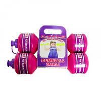 """Гантели-бутылочки """"Для девочки"""", 2 штуки (1,05 кг) 5257Д"""
