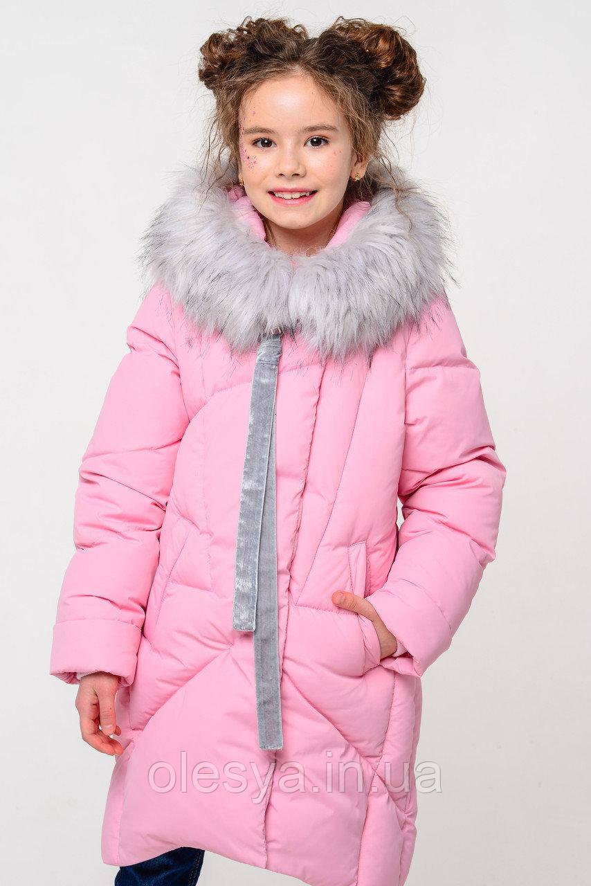 Детская зимняя куртка для девочки Офелия ТМ  Nui Very. Размеры 110- 158