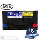 Аккумулятор автомобильный ROCKET 6CT 55Ah ASIA, пусковой ток 580А [–|+] (75B24LS), фото 6