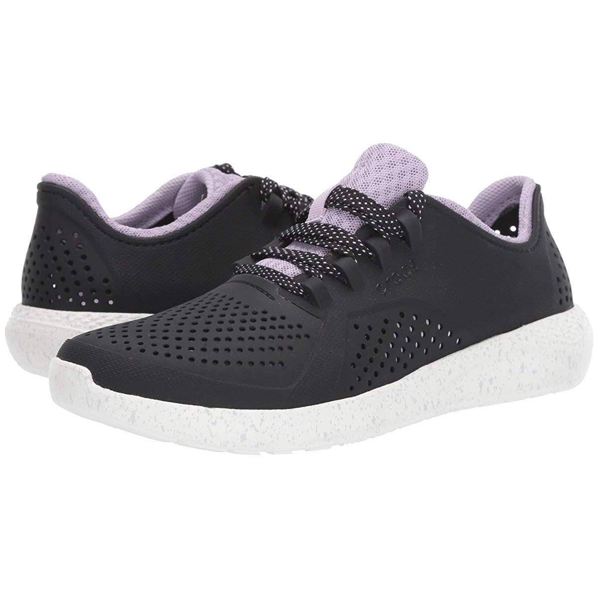 Кроссовки Crocs LiteRide Speckled Pacer Black/White - Оригинал, фото 1