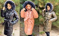 Зимнее пальто для девочек №761 (р.134-152) в расцветках, фото 1