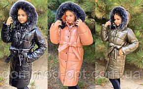 Зимове пальто для дівчаток №761 (р. 134-152) в кольорах