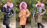 Зимнее пальто для девочек №761 (р.134-152) в расцветках