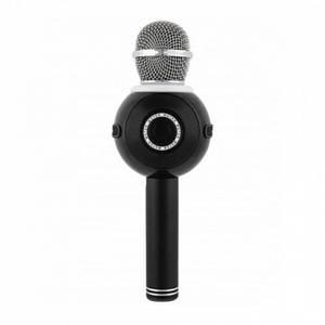 Беспроводной микрофон караоке блютуз WS-878 Bluetooth динамик USB Чёрный