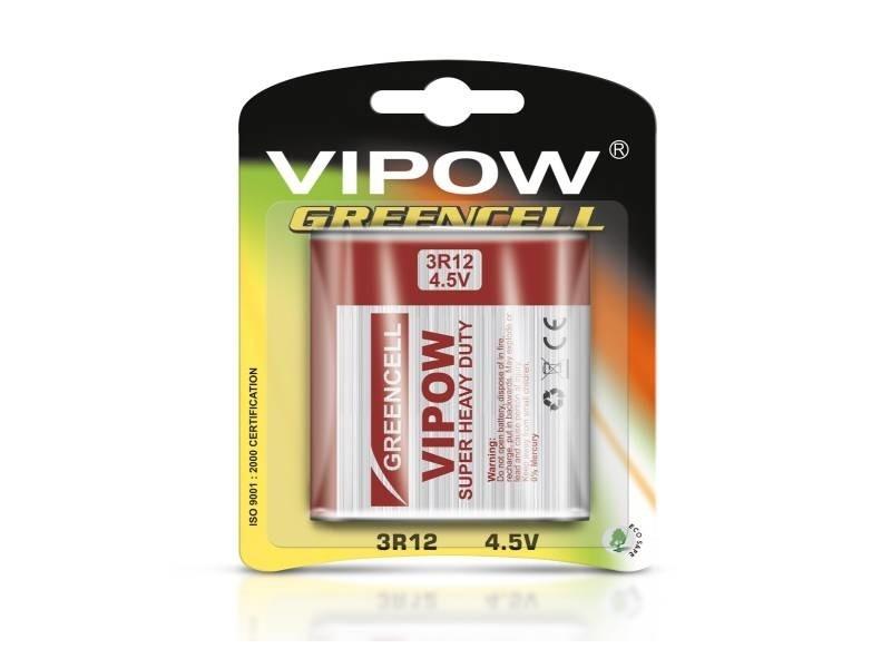 Батарейка 4,5 VIPOW GREENCELL 3R12 блістер 1 шт Польща BAT0085B