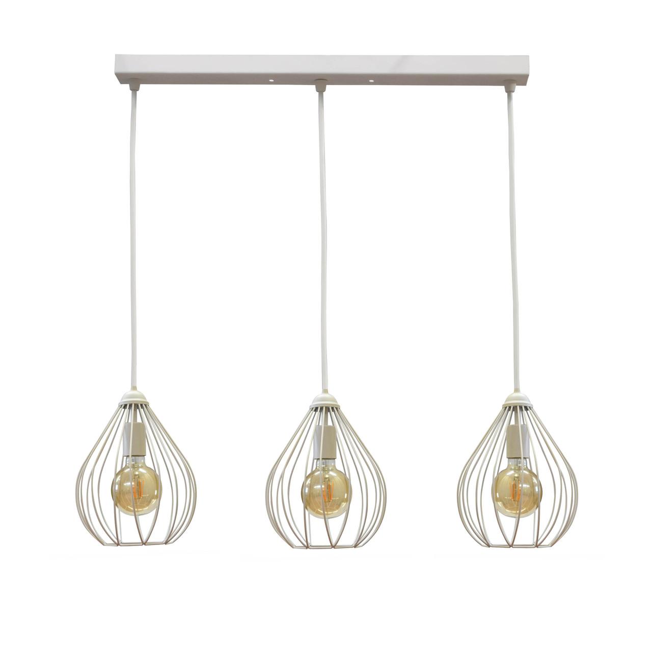 Светильник подвесной в стиле лофт на три лампы  Капля  NL 2229-3W MSK Electric