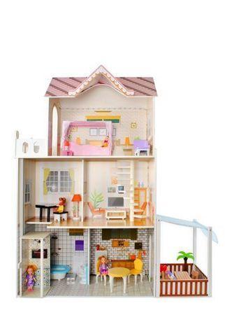 Деревянный кукольный дом - вилла