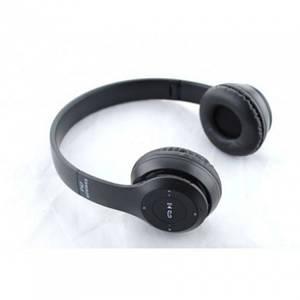 Беспроводные Наушники P-47 Bluetooth + MicroSD + FM Радио чёрные