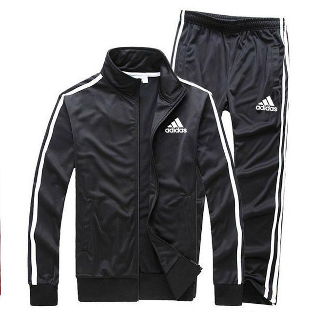 Черный демисезонный тренировочный костюм Adidas (Адидас)