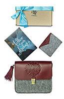 Набор для женщин BlankNote Стокгольм (сумка,кейс, открытка) BN-set-access-28-felt