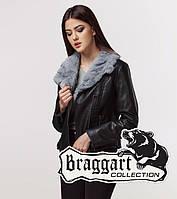 Braggart Youth | Куртка женская весна-осень 25522 черно-серая