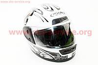 Шлем закрытый HF-109 M- БЕЛЫЙ с рисунком Q09, фото 1