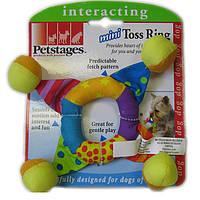 PETSTAGES (ПЕТСТЕЙДЖЕС) игрушка для собак Кольцо-погремушка мини