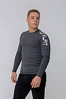 Рашгард мужской с длинным рукавом Totalfit RMK4-C9 3XL темно-серый, фото 1