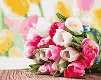 "Картина по номерам. Brushme ""Букет тюльпанов"" GX9193"