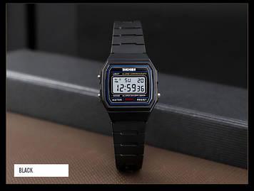 SKMEI 1460 черные спортивные детские часы
