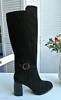 Замшевые стильные сапоги от производителя, фото 1