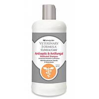 SynergyLabs Veterinary Formula АНТИСЕПТИЧЕСКИЙ И ПРОТИВОГРИБКОВЫЙ (Antiseptic&Antifungal Shampoo) шампунь для собак и кошек, 473мл