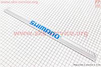 Защита штанов от попадания в цепь, светоотражающая, серая SHIMANO