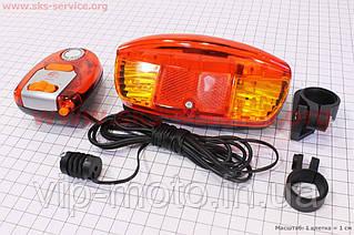 Звонок электронный 8 мелодий, 2 диода + стоп с поворотами 11 диодов, JY-208