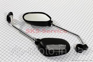 Зеркало левое+правое овальные, черные JY-102