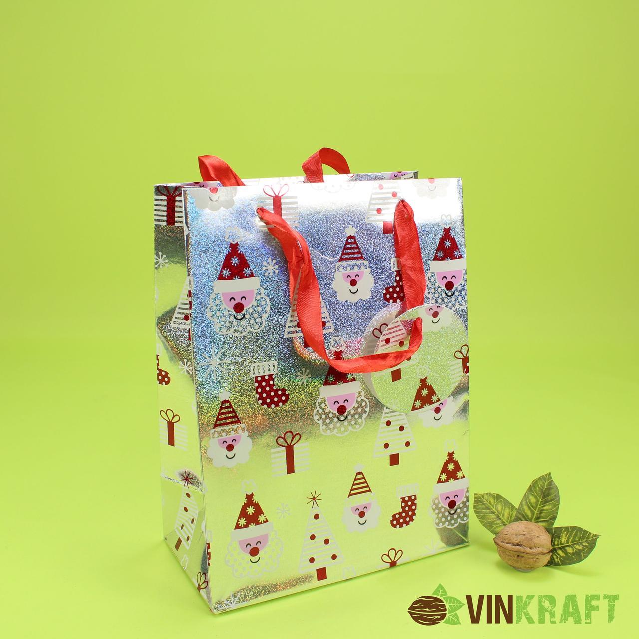 """Подарунковий пакет 180*85*240 """"Олені 3"""""""