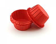 Тарталетки (капсулы) бумажные для кексов, капкейков с УСИЛИТЕЛЕМ Красные