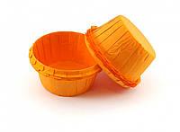 Тарталетки (капсулы) бумажные для кексов, капкейков с УСИЛИТЕЛЕМ Оранжевые