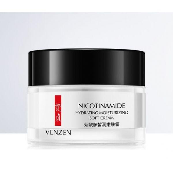 Зволожуючий крем для обличчя VENZEN Nicotinamide Moisturizing Cream з нікотинамідом 50 гр