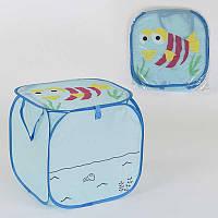 Корзина для игрушек С 36580 120 45х46см, в полиэтиленовой упаковке - 183626