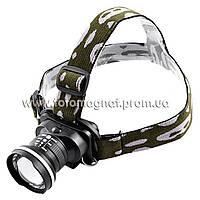 Ультрафиолетовый фонарь на лоб Police 12V 6807-UV 365 nm, ultra strong, zoom(ультрафиолетовый фонарик)