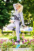 Молодежный женский спортивный костюм 972 с гипюром, фото 1