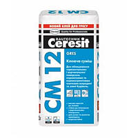 Клеящая смесь Gres для плитки и керамогранита СМ-12 (25 кг)