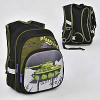 Рюкзак школьный с 2 отделениями и 3 карманами, спинка ортопедическая - 186076