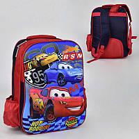 Рюкзак школьный с 2 отделениями и 2 карманами, мягкая спинка - 186081