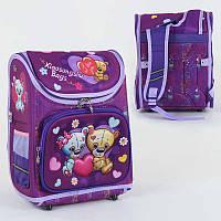 Рюкзак школьный каркасный с 1 отделением и 3 карманами, спинка ортопедическая, 3D принт - 186127