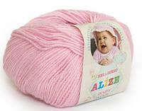 Детская пряжа Alize Baby Woolдетский розовый №185для Ручного Вязания