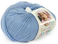 Детская пряжа Alize Baby Woolголубой №40для Ручного Вязания