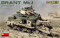 1:35 Сборная модель танка M3 'Grant' Mk.I, MiniArt 35217;[UA]:1:35 Сборная модель танка M3 'Grant' Mk.I,