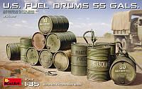 1:35 Американские бочки для топлива, MiniArt 35592;[UA]:1:35 Американские бочки для топлива, MiniArt 35592
