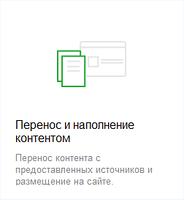 Перенос и наполнение контентом сайта  на Prom.ua