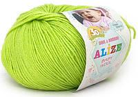 Детская пряжа Alize Baby Woolфисташка №612для Ручного Вязания