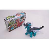 Динозавр 1388, 24см, ходит, звук, свет, 2цвета, на бат-ке, в кор-ке, 25-16-8, 5см