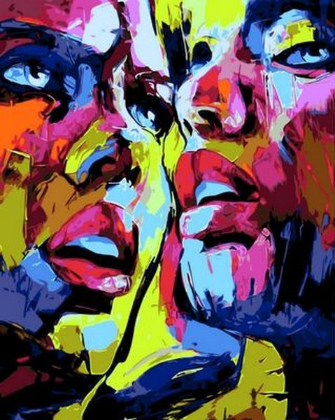 Картина по номерам 40×50 см. Mariposa Девушки поп-арт (Q 795)