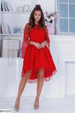 Плаття нарядне видовжене ззаду в кольорах 163968, фото 2