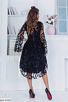 Платье нарядное удлиненное сзади в расцветках 163968, фото 2