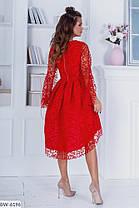 Платье нарядное удлиненное сзади в расцветках 163968, фото 3