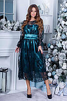 Платье нарядное миди коктейльное в расцветках 165088П
