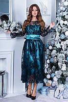 Платье нарядное миди коктейльное в расцветках 165088П, фото 3